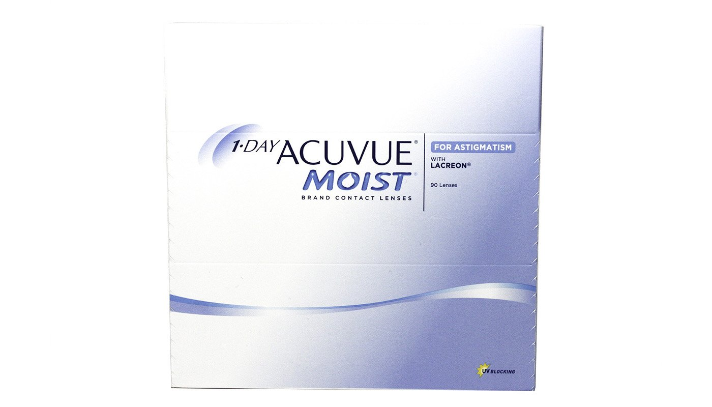 Контактные линзы 1-DAY Acuvue Moist for ASTIGMATISM, 90pk