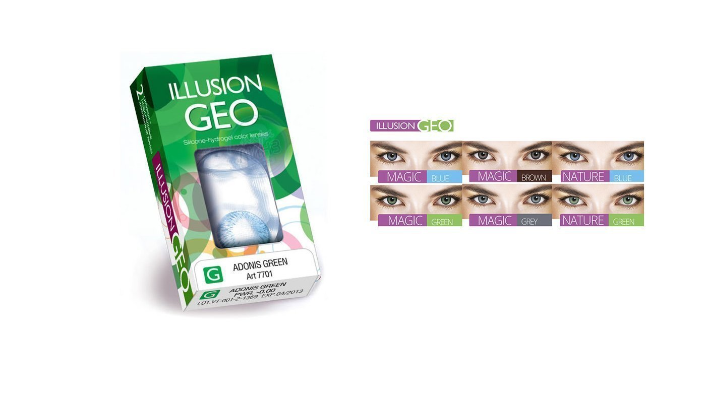 Контактные линзы ILLUSION GEO colors magic, 2pk