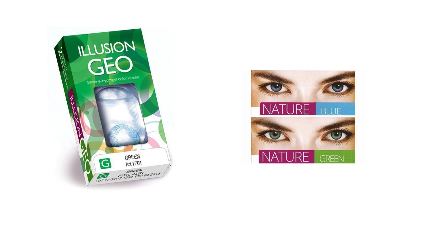 Контактные линзы ILLUSION GEO colors nature, 2pk